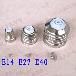 E14 E27 E40 Solderless Duy Demir Kaplama Metal Lamba Kafa LED Enerji Tasarrufu Aydınlatma Aksesuarları
