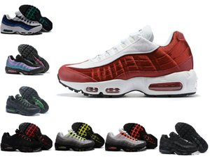 95 OG Mens Running Shoes 95s University Gold Bred Gym Red Laser Fuchsia Gradient White Blue Classic Black Men Sports outdoor Sneakers 40-46