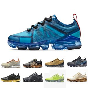 nike air vapormax 2019  Summer cushion Brand new shoes man 2019 sneakers Canyon Gold Aluminum Blue men women black red white trainer sports running shoe