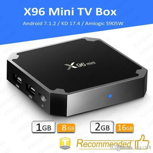 X96 Mini Android 7.1 Amlogic S905W STB tv box 1GB + 8GB 2GB + 16GB eMMC Flash KD KDplayer 17.6 4K Smart Android TV Box VS TX3 MXQ PRO