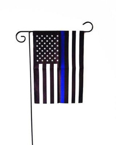 Drapeau Ligne bleue American Garden 12 * 18ft Flags Thin USA Blue Line Red Line Party Decoration 30 * 45cm jardin Décor drapeau national