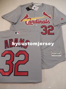 Pas cher St Louis MENS coutume # 32 MATT ADAMS Sewn COOL BASE Jersey GREY Mens maillots cousu Big and Tall TAILLE XS-6XL A vendre