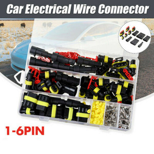 1-6PIN Way Waterproof Car Electrical Wire Connector Plug Set +Blade Fuses