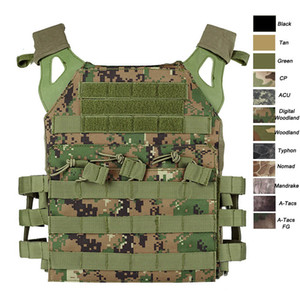 Outdoor Sports Airsoft Gear Molle Pouch Bag Carrier Camouflage Body Armor Combat Assault Tactical Molle Vest JPC Plate Carrier P06-010B