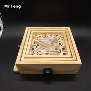 Big Drehknopf Holz Labyrinth Spielzeug, Holz Labyrinth Puzzle Spiel Für Kinder Lehre Intelligenz Spielzeug (Modellnummer B021)