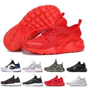 4 1 0 caliente clásica Ultra Huarache. Para hombre blancas Moda Hombres Mujeres Formadores Rojo huaraches Triple Negro Deportes zapatillas de deporte al aire libre