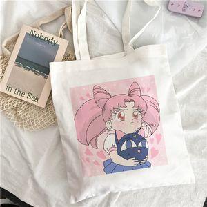 Designer-estate nuovo fumetto di modo divertente Sailor Moon Donne carino Ulzzang stampare carino casuale tela borse a tracolla Messenger bag Harajuku