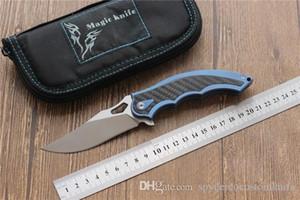 Miker ala artiglio coltello pieghevole M390 lame di sopravvivenza cnc coltello da caccia in fibra di carbonio della maniglia di titanio per la cucina strumento Camping EDC, trasporto libero