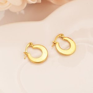 Bangrui Bridal Men Jewelry Gold Color Brincos Top Quality Women girls Hoop Earrings wedding bridal party gifts