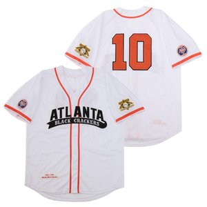 Atlanta Nero Cracker Negro League Button Down RETRO Baseball Jersey Stadio di baseball ricamo di alta qualità