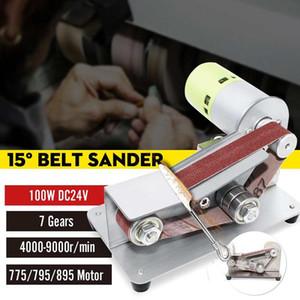 Mini Electric Belt Sander Multifunctional Grinding Polishing Machine Abrasive Belt Grinder Polisher Cutter Edges Power Tool