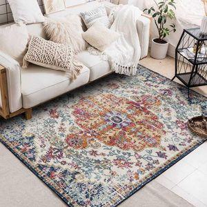 Retro Style Marocco Soggiorno Tappeti geometrica Cucina Soggiorno Decor Area tappeti persiani Camera da letto Comodino antiscivolo Tappetino