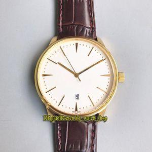 Alta qualità 9 colori Patrimonio 85180 / 000J-9231 quadrante bianco data Miyota 8215 oro automatico orologio da uomo cassa in oro cinturino in pelle orologi casual
