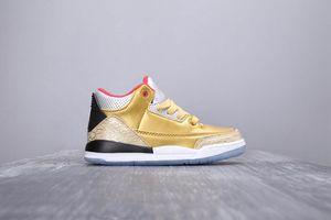 2019 nouveau III Knicks 3S J3 unc air extérieur Enfants chaussures de basketball garçon fille jeune enfant sport Bottes de basketball Sneaker taille 28-35