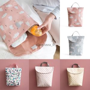 작은 크기 기저귀 아기 가방 매달려 기저귀 유모차 저장 아기 기저귀 재사용 빨 천 방수 기저귀 휴대용 핸드백