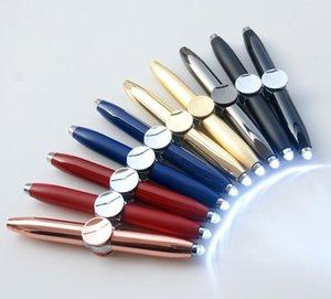 LED Spinning Pen Ball Pen Fidget Spinner Hand Top Resplandor en Dark Light EDC Stress Relief Toys Niños Juguete de regalo útiles escolares