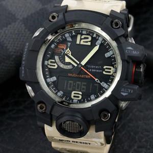 montres hommes originaux Mouvement Digital GWG1000 Regardez sports usine YG Montres-bracelets étanche avec boîte en acier