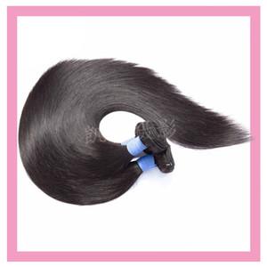 Brezilyalı bakire saç uzun inç 30-40 inç düz 3 demetleri doğal renk toptan saç ürünleri ipeksi düz atkı üç parça bir set