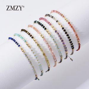 ZMZY Moda Nova Pedra Natural Frisado Pulseiras para Mulheres Ajustável Multi Cor Miyuki Beads Jóias Corda Pulseira Cadeia de Presente
