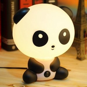 Panda Cartoon Kids Bed Desk Table Lamp Night Sleeping Lamp Gift(US PLUG)
