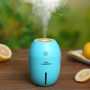 الليمون USB الهواء المرطب الأساسية الناشر النفط مع الصمام ليلة الخفيفة الكهربائية بالموجات فوق الصوتية مرطب الهواء الناشر العبير