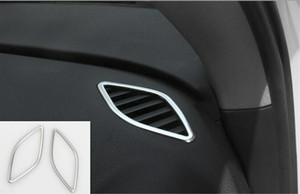 Audi A3 S3 8V 2014-2019 용 스테인레스 인테리어 상부 공기 배출 배출구 커버 트림