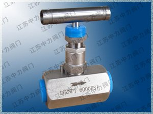 20000PSi ultra high pressure stainless steel needle valve