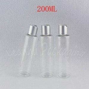 200ml의 투명 플랫 어깨 플라스틱 병, 200CC 샴푸 / 로션 하위 병입, 빈 화장품 용기 (30 PC / 로트)