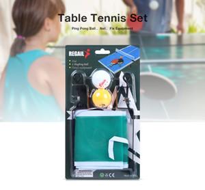 Regail portátil conjunto de tênis de mesa net ping pong bola fix equipamentos de três estrelas de tênis de mesa bola conjunto de acessórios de treinamento
