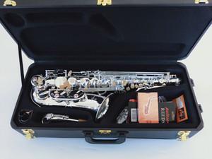 Марка Япония Высокое качество Саксофон альт Янагисава A-992 E-Flat Sax посеребренная Alto мундштук Reed Neck Музыкальный инструмент Free