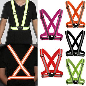 Reflective Adjustable Safety Security High Visibility Vest Gear Stripes Jacket Vest for Running Cycling Walking MMA1216 100pcs