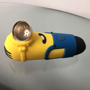 Silicone tubi di alta qualità accessori di fumo di vetro tubo divertente Serventi vetro fumo di pipa di tabacco Heady mano Pyrex cucchiaio colorato