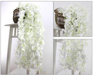 200cm artificielle Garland Silk Hydrangea vigne Fleurs de mariage Fausse fleur haute densité Pétale Chaîne de mariage Home Décor Party Decoration