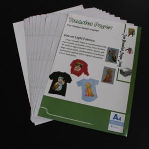(A4) * 10pcs trasladarse por sí mismo deshierbe láser Papel de calor papel de imprenta para la camiseta del color ligero Transferencias térmicas Papel TL-150M