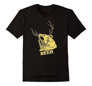 Günstige Herren T-Shirt Beer Bear Deer T-Shirt Mode-Shirt Männer Kurzarm T-Shirt