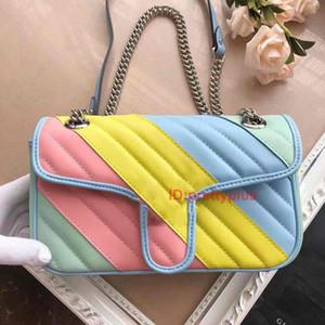 2020 Qualitäts-Marken-Multi-Color-Beutel-Frauen-Handtasche Berühmte Umhängetasche Modedesigner Luxus-Handtaschen Geldbörsen Handtaschen Socialite