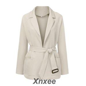 Chaqueta oversize de manga larga para mujer Abrigo de otoño para mujer Abrigo femenino Xnxee