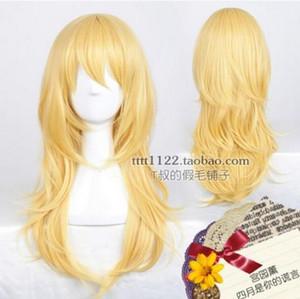 ÜCRETSIZ KARGO + + Uzun Sarışın Cosplay Peruk Saç Nisan ayında Miyazono Kaori Yalan Sizin Yalan