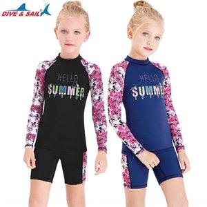 Vela infantil INMERSIÓN SAIL nadar pantalones cortos de manga corta chica protector solar traje de baño traje de buceo medusas de secado rápido dividida