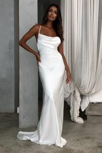 Sexy Открыть Назад бретельках Свадебные платья атласная Свадебные платья Плюс Размер Свадебные Платье де Novias