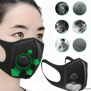 Original Adjustable Anti-Fog Full FaShield Plastic Visors Black Mask For Face Film Anti Saliva Filter Masks With Elastic Band Sponge