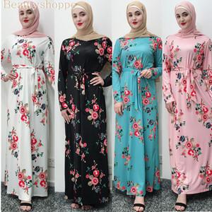 Pink White vestido bandagem Muslim Women Hijab Abaya Turquia marroquina Preto Dubai azul Bangladesh Kaftan turcos vestuário islâmico