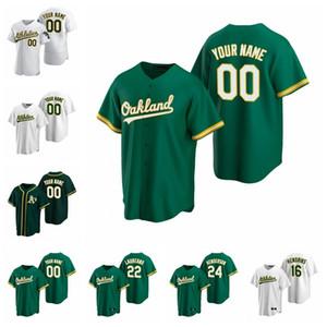 26 Matt Chapman Equipamentos Womens Khris Davis 24 Rickey Henderson 33 Jose Canseco 25 Piscotty 44 Reggie Jackson basebol camisas personalizadas Stitche