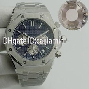 mens orologi 41 millimetri Full Acciaio Giappone VK cronografo movimento dell'orologio super-luminoso 5ATM impermeabile montre de luxe orologi da polso