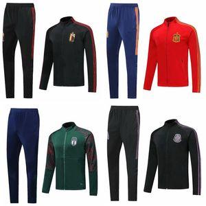 Top 2020 España una chaqueta de fútbol chándal ITALIA Bélgica chandal México jersey de fútbol Argentina Brasil ropa de entrenamiento desgaste de los deportes