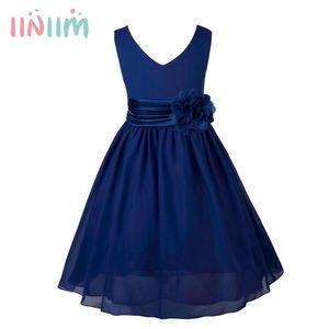 이니 밈 소녀 십대 생일 파티 드레스 우아한 꽃 공주 드레스 볼 가운 투투 드레스 잡초 어린이 겉옷 Y19061501