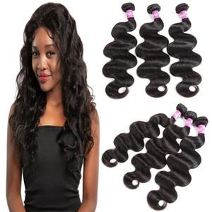 H A Body Wave Human Hair Extensions 100g  Bundle Malaysian Brazilian Peruvian Indian 100 %Virgin Human Hair Bundles Natural Color 8 -28