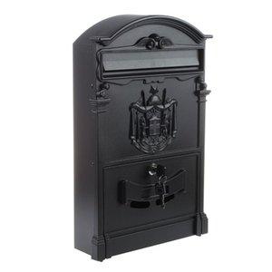 New-Heavy Duty Aluminium schwarz Abschließbare Secure Mail Briefpostfach Letterbox Neue