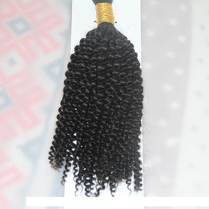 1 Jet black 1 Bundles 10 to 26 Inch Human Braiding Hair Bulk No Weft Mongolian Afro Kinky Curly Bulk Hair For Braiding
