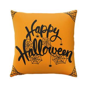 Halloween Copricuscino 45 * 45cm zucca fantasma Spider Stampato o un'immagine Piazza poliestere federa di Halloween della decorazione della casa